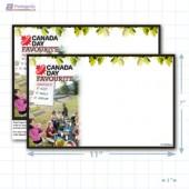 """Canada Day Merchandising Placards 1UP (11"""" x 7"""") - Copyright - A1PKG.com - 90132"""
