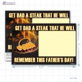 "Father's Day Merchandising Placards 1UP (11"" x 7"") - Copyright - A1PKG.com - 90138"