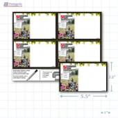 """Canada Day Merchandising Placards 4UP (5.5"""" x 3.5"""") - Copyright - A1PKG.com - 90131"""