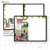 """Canada Day Merchandising Placard 5.5 x 7"""" Copyright A1PKG.com - 90108"""