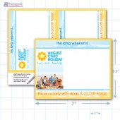 "Civic Holiday Merchandising Placard 2Up 5.5 x7"" Copyright A1Pkg.com SKU - 90113"