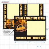 "Father's Day Steak Merchandising Placard 2Up (5.5 x7"") Copyright A1PKG.com - 90103"