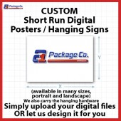 Custom Merchandising Posters - (Synthetic White Stock Printed 1 Side)
