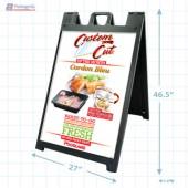 Cordon Bleu Merchandising Signicade with Graphics Copyright 2014 A1Pkg.com SKU 26598