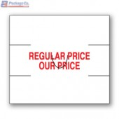 Regular Price/ Our Price Avery Dennison 216 and Sato PB-2 Labeler Compatible Label a1pkg.com SKU- 1816-00300