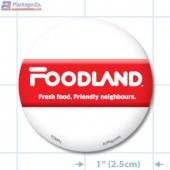 Foodland TOMA Full Colour Circle Merchandising Label Copyright A1PKG.com - 03003-FDL