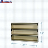 3 Shelf Unit- Silver Anodized- Ultimate Label Center - A1Pkg.com